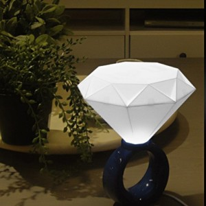 Diamond ring USB LED lamp