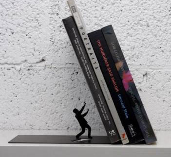 Falling books bookend