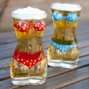 Lady Torso Bikini Beer Mugs