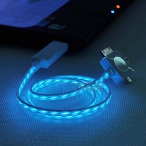 The light up charging cable