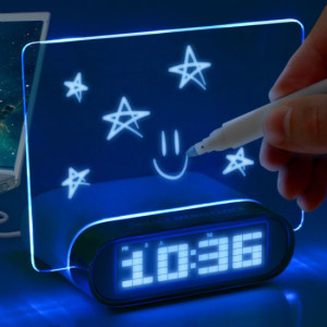 LED message board digital alarm clock