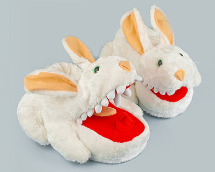 Rabbit with Big Teeth Slippers