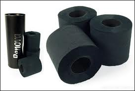 Black toilet paper roll