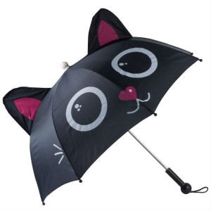 Meowing Black Cat Umbrella