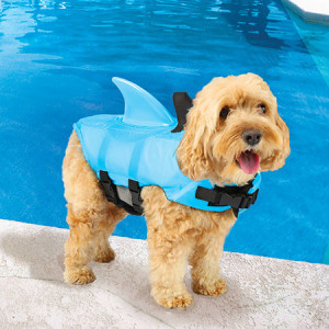 Shark Fin Doggie Swim Vest