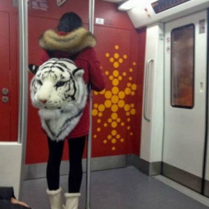 Tiger Head Backpack