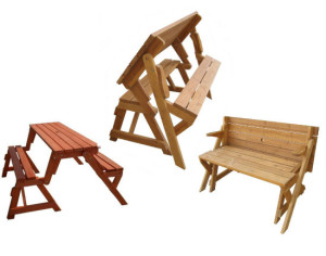 Convertible Picnic Table And Garden Bench