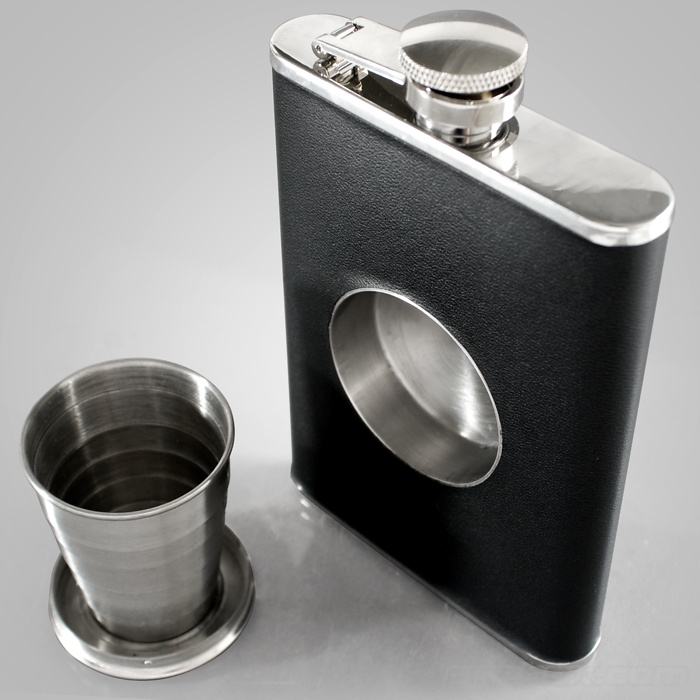 Shot Glass In A Flask