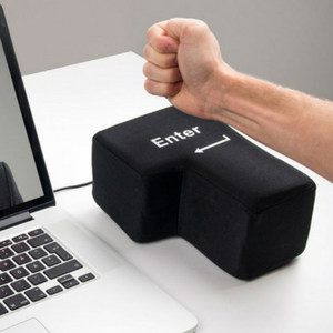 Enter Key Throw Pillows with USB