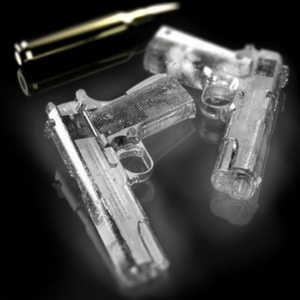 Handgun ice tray